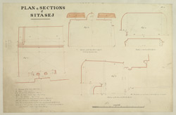 Plate.1. Plan & Sections of Sitasej